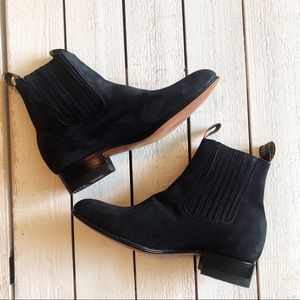 Botines Charros Navy Nobuck Ankle Boots